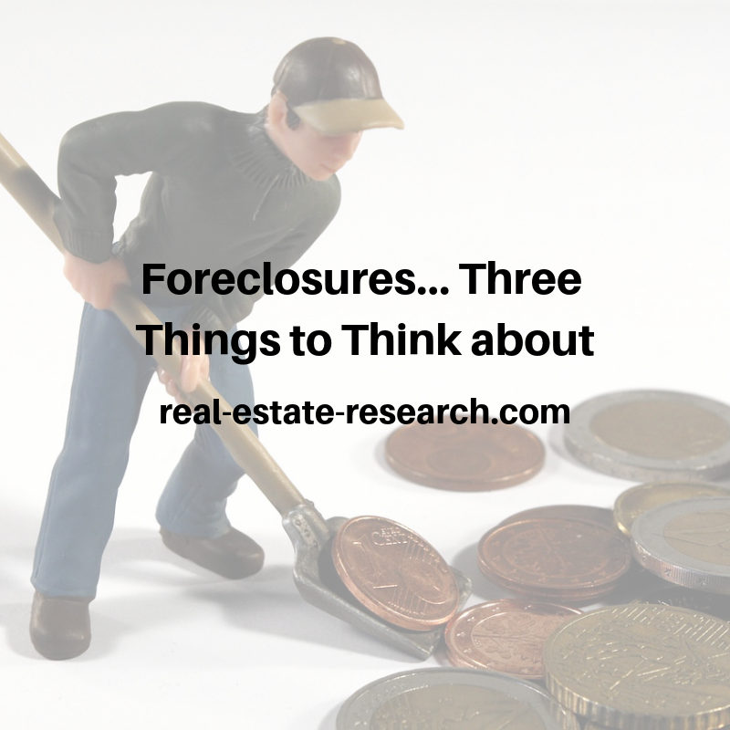 Foreclosures… Three Things To Think About