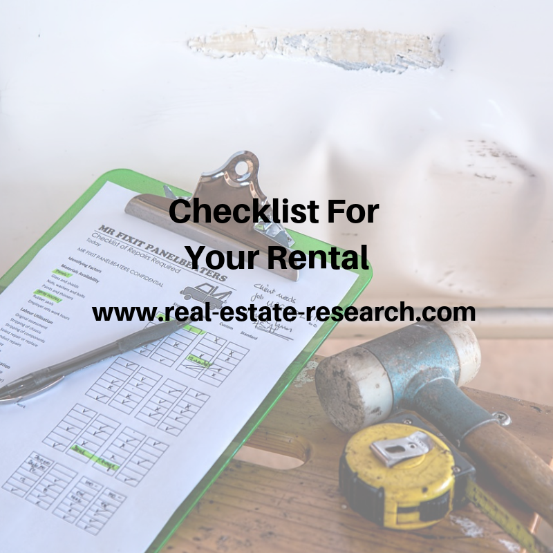 Checklist For Your Rental
