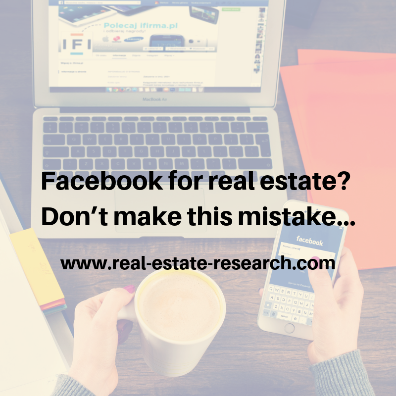 Facebook For Real Estate? Don't Make This Mistake…
