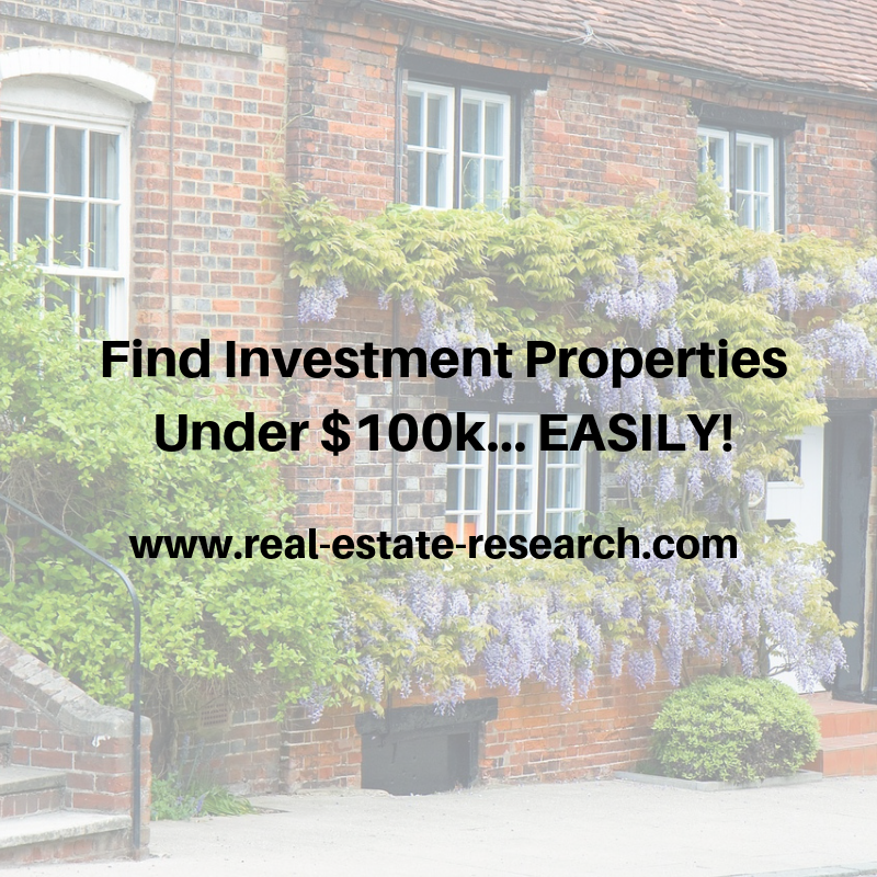 Find Investment Properties Under $100k… EASILY!