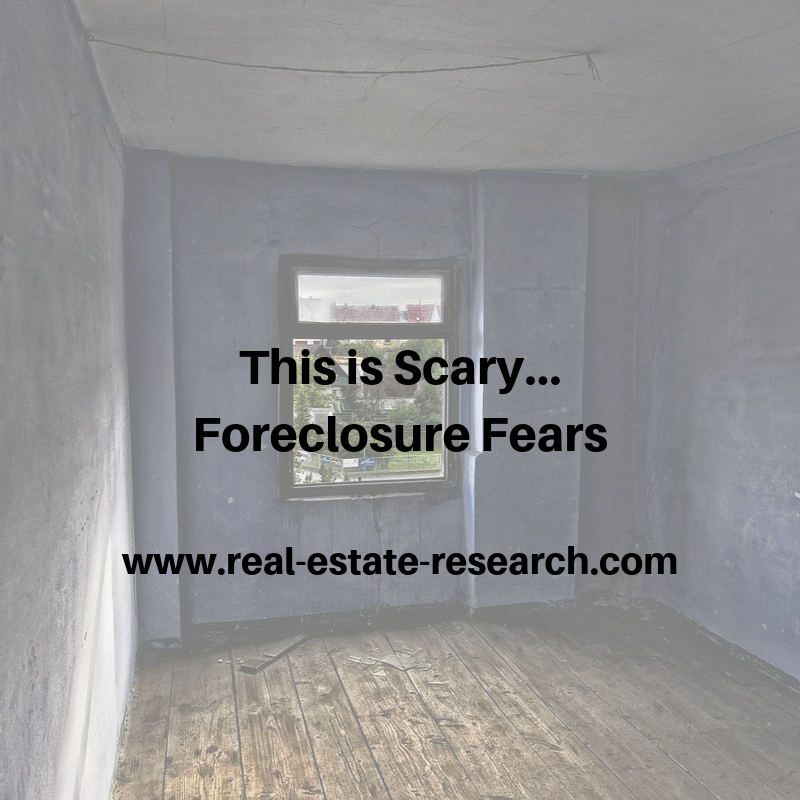 This Is Scary… Foreclosure Fears