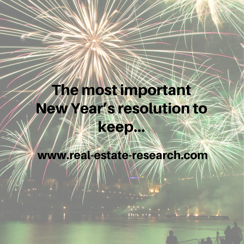 The most important New Year's resolution to keep…